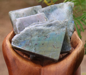 Labradorite Slab with polished face - small - Moonstone Felt And Crystals