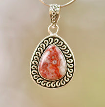 Load image into Gallery viewer, Jasper Pendant - Moonstone Felt And Crystals