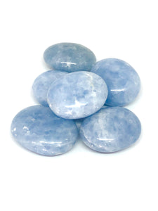 Blue Calcite Palm Stone | Calcite Crystals - Moonstone Felt And Crystals