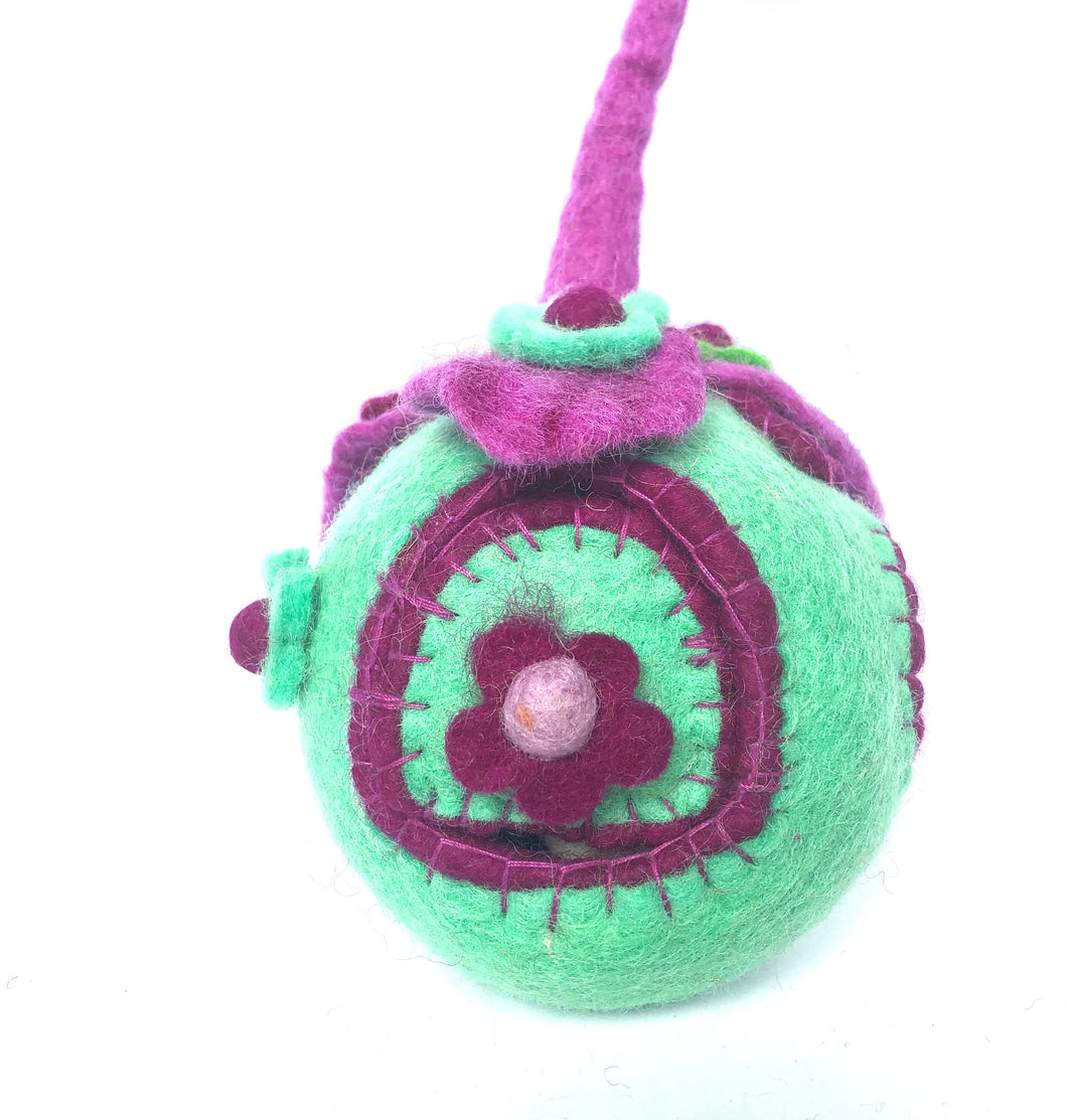 Felt Fairy House - The Wonder Faery Pod - Moonstone Felt And Crystals