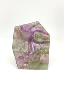 Fluorite Slab Polished - Moonstone Felt And Crystals