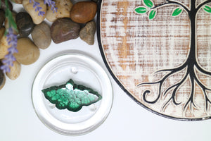 Malachite Slab - Small | Malachite Crystals - Moonstone Felt And Crystals