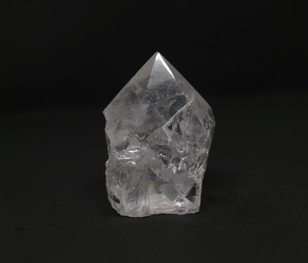 Clear Quartz polished top generator - Moonstone Felt And Crystals