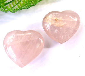 Rose Quartz mini heart - Moonstone Felt And Crystals