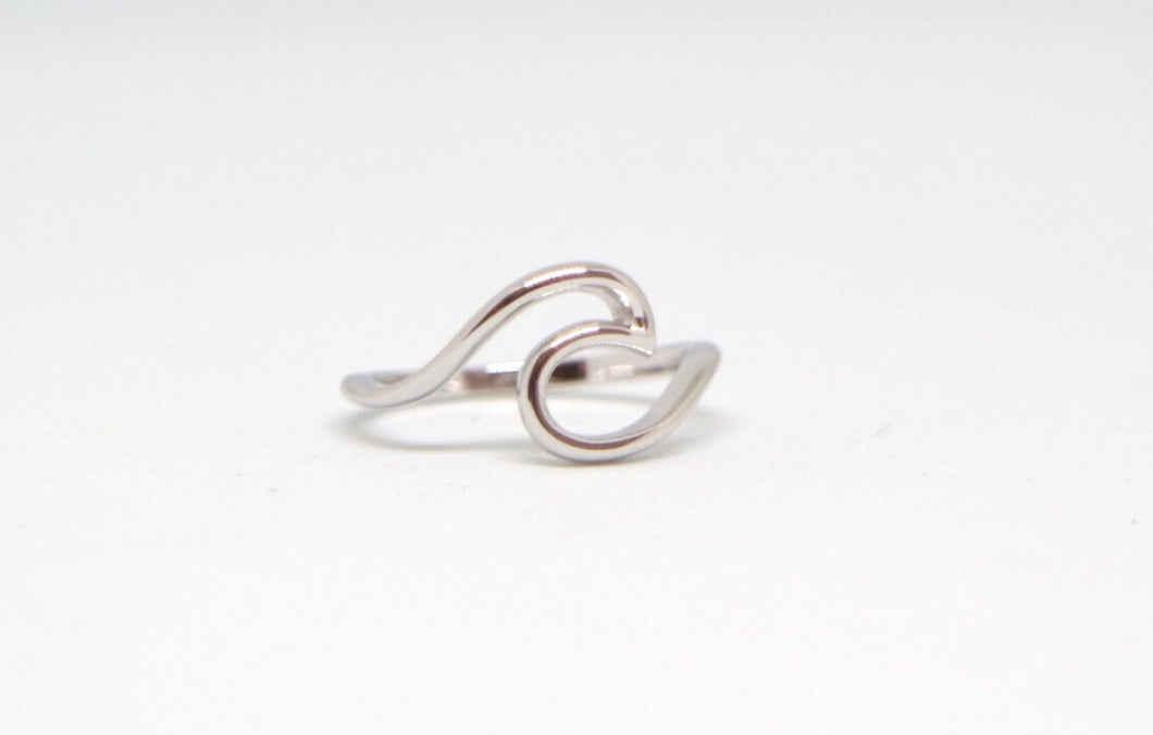 Sterling Silver Wave Ring - Moonstone Felt And Crystals