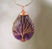Load image into Gallery viewer, Tree of Life Amethyst/Ametrine Pendant - Moonstone Felt And Crystals
