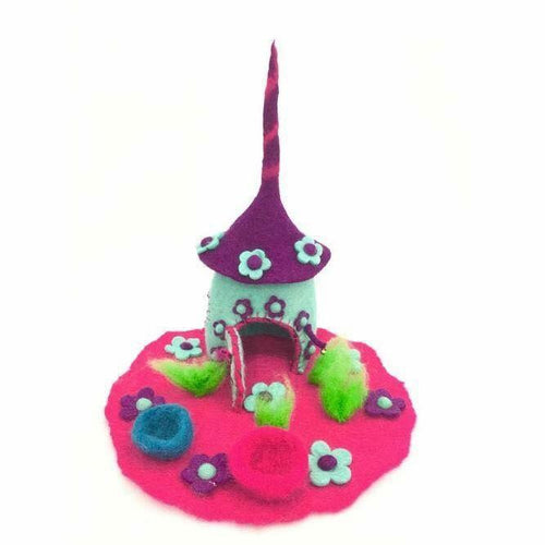 Felt Fairy House - Unicorn House - Moonstone Felt And Crystals