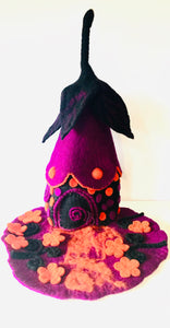 Felt Fairy House - Witch Potion House - Moonstone Felt And Crystals