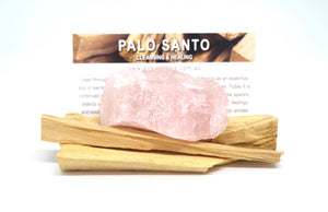 Palo Santo And Rose Quartz Bundle - Moonstone Felt And Crystals