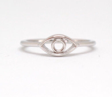 Sterling Silver Eye Ring - Moonstone Felt And Crystals