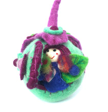 Load image into Gallery viewer, Felt Fairy House - The Wonder Faery Pod - Moonstone Felt And Crystals