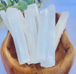 Selenite stick natural - Small - Moonstone Felt And Crystals