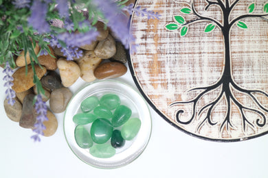 Fluorite Tumbles Green - Moonstone Felt And Crystals