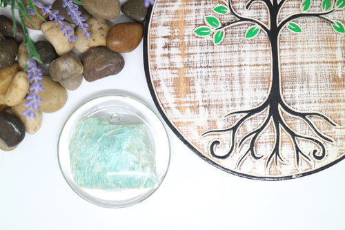 Amazonite Slab with polished face - Moonstone Felt And Crystals
