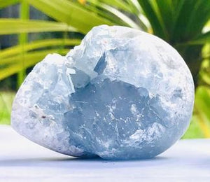Celestite Geode Rough  - Small - Moonstone Felt And Crystals