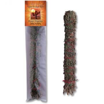 Native Australian Smudge Stick - Grass Tree Blend - Inner Warrior - Moonstone Felt And Crystals