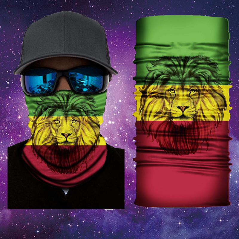 Lion of Judah  Rasta Vibes Face Shield/Mask Designed by Catch A Fire Arts