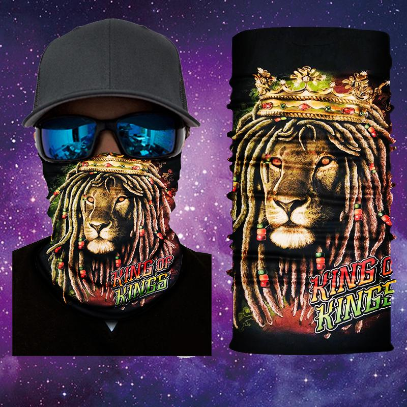 Lion of Judha Rasta Vibes 2 Face Shield/Mask Designed by Catch A Fire Arts