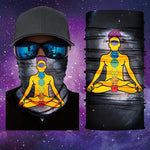 Face Mask/Face Shield Chakra Yoga Pose Face Shield/Mask Designed by Catch A Fire Arts