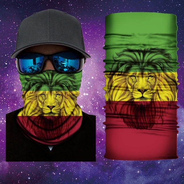 Lion Of Judah Rasta Gaiter Face Mask Covering Lion Of Judah Mask 14 Of 28 Mask