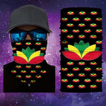 Rasta Lotus Flower Gaiter Face Mask Covering Rasta Lotus Flower 19 Of 28 Mask