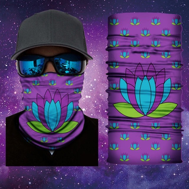 Lotus Flower Gaiter Face Mask Covering Lotus Flower Art 15 Of 28 Mask