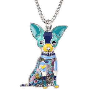 ea313f069 Sitting Chihuahua Dog Necklace Pendants Enamel with Chain | New Fashion  Animal Jewelry For Women