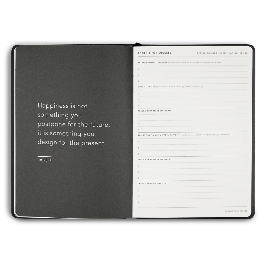 wabi sabi 2020 planner in Stealth Black