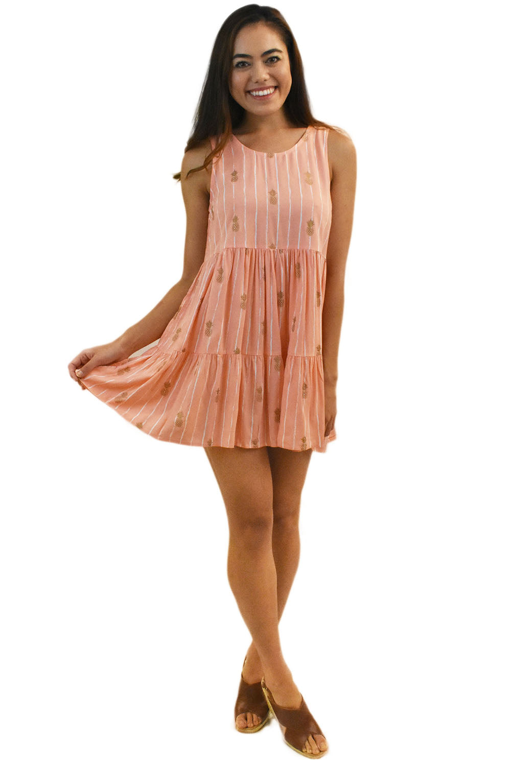 Ala Short Dress in Pineapple Coral