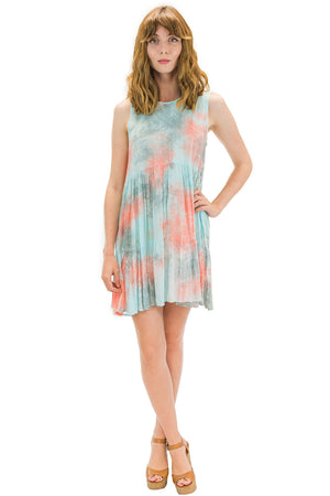 Ala Short Dress in Smoke Coral