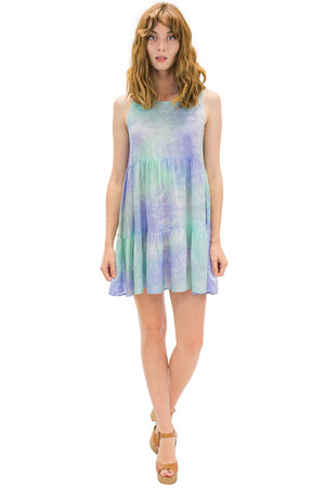 Ala Short Dress in Smoke Purple
