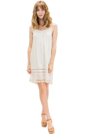 Alani Short Dress White