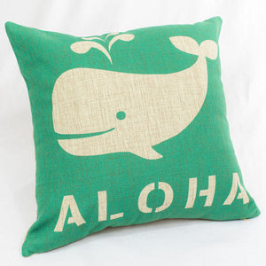 Aloha Whale Pillow Case