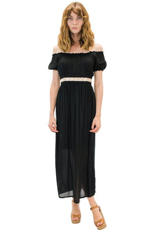 Angel Long Dress Black