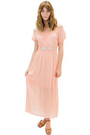 Angel Long Dress Coral