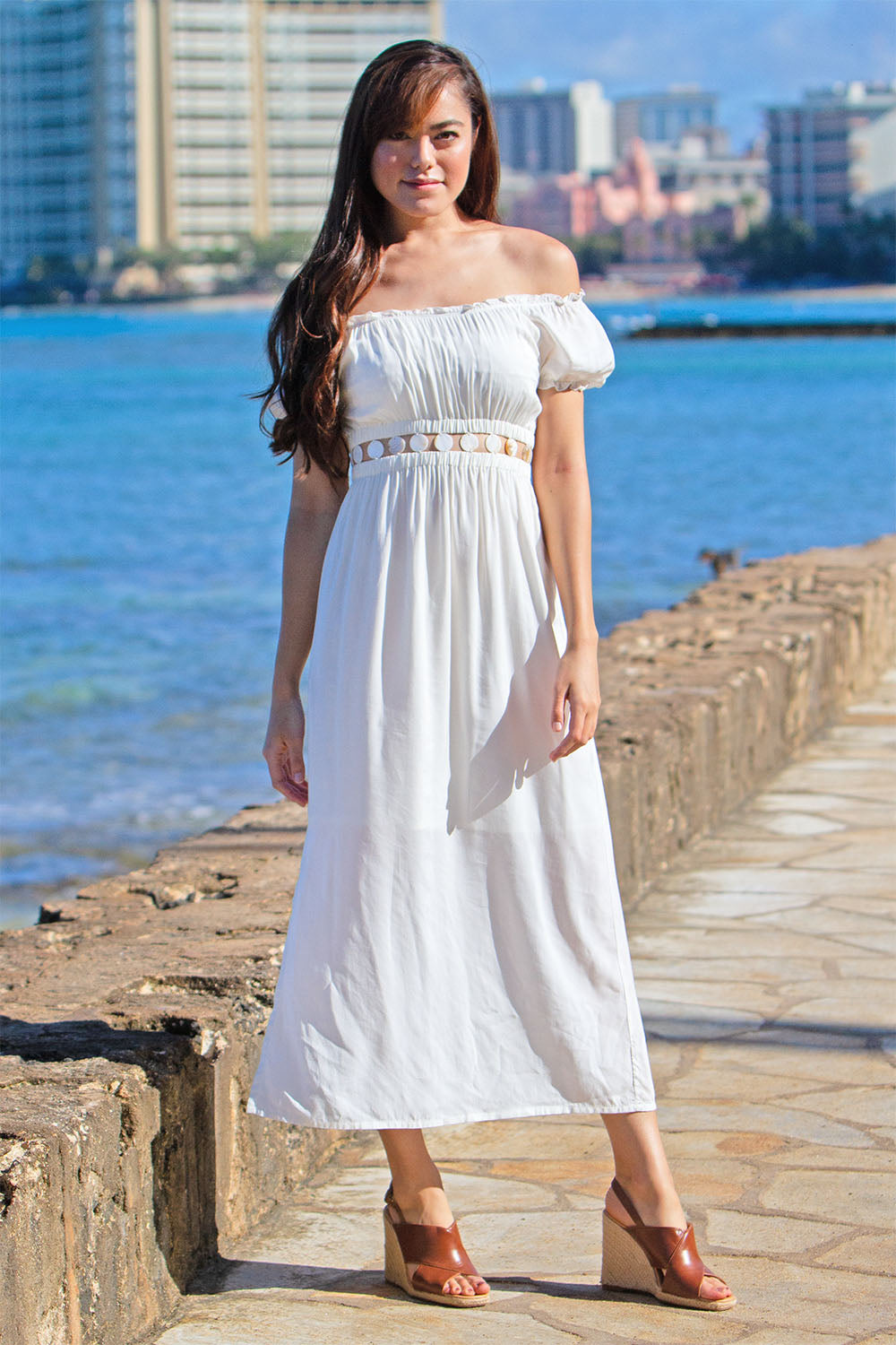Angel Long Dress White