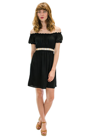 Angel Short Dress Black