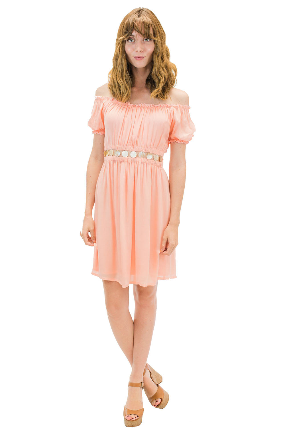 Angel Short Dress Coral