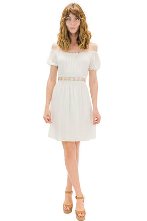 Angel Short Dress White