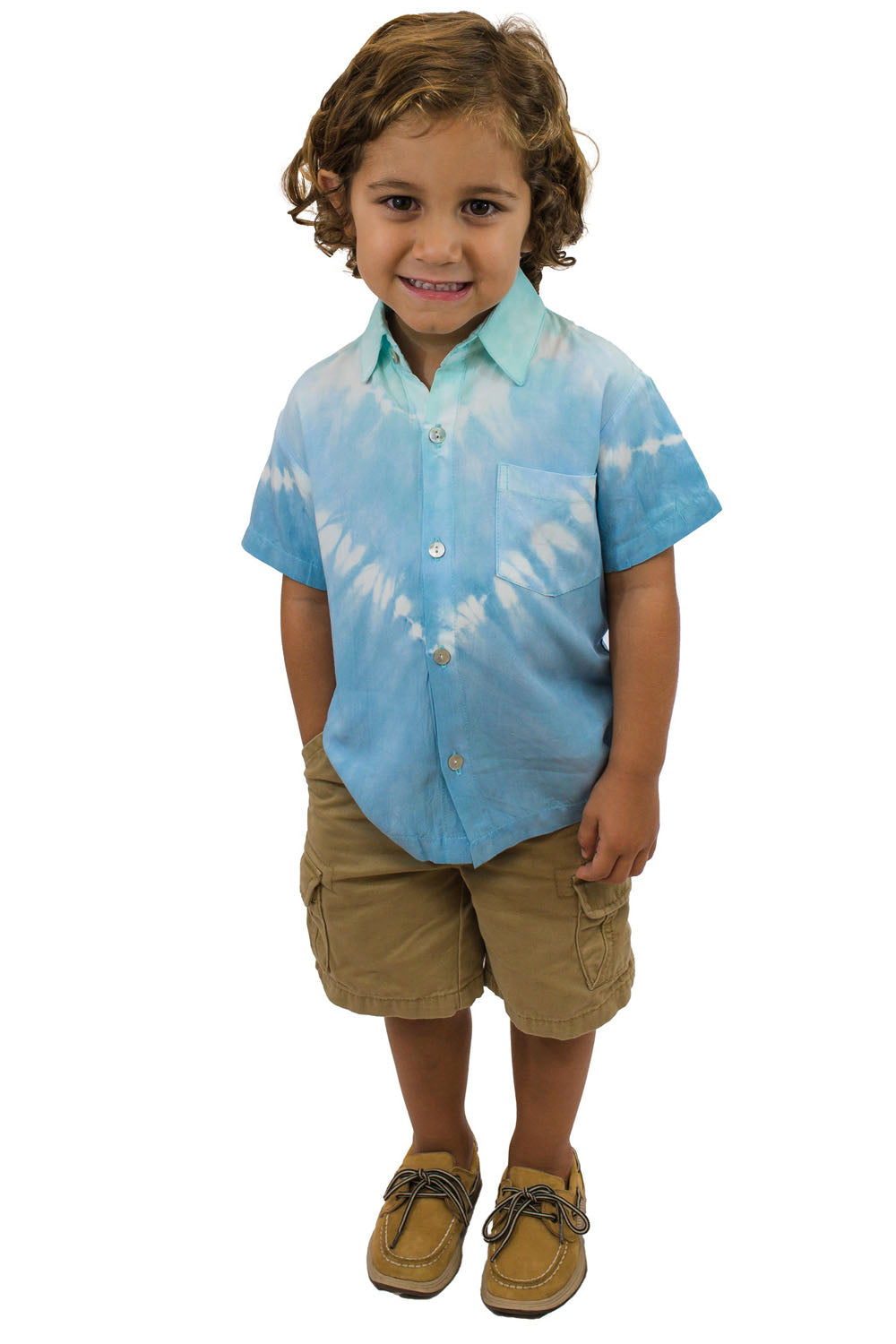 Boys Shirt in Abstract Blue