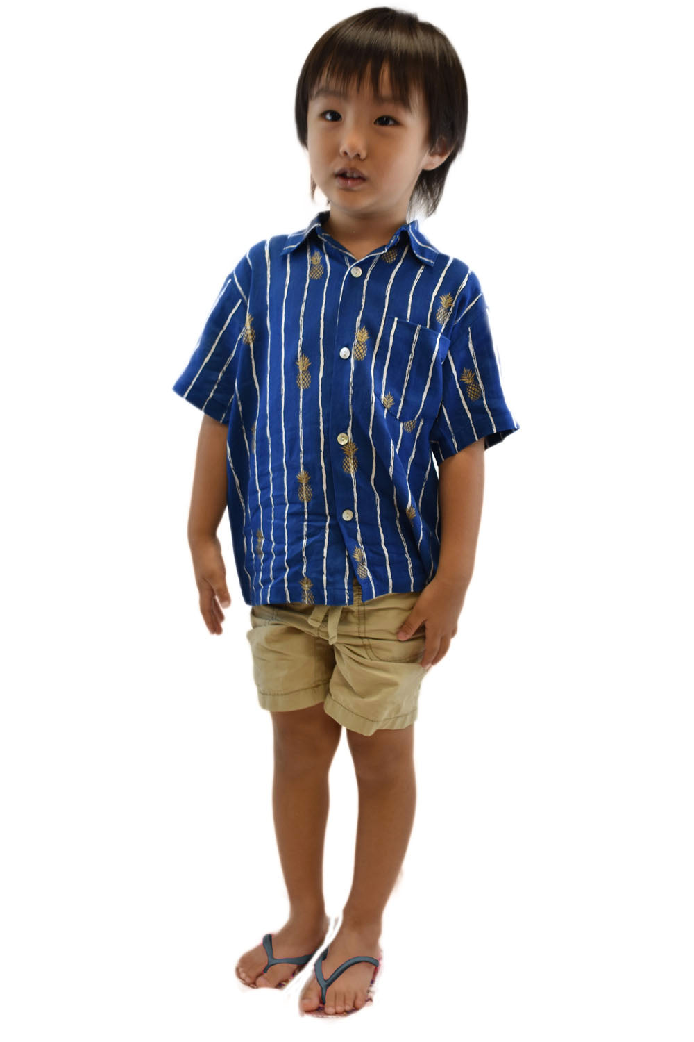 Boys Shirt in Pineapple Print Navy