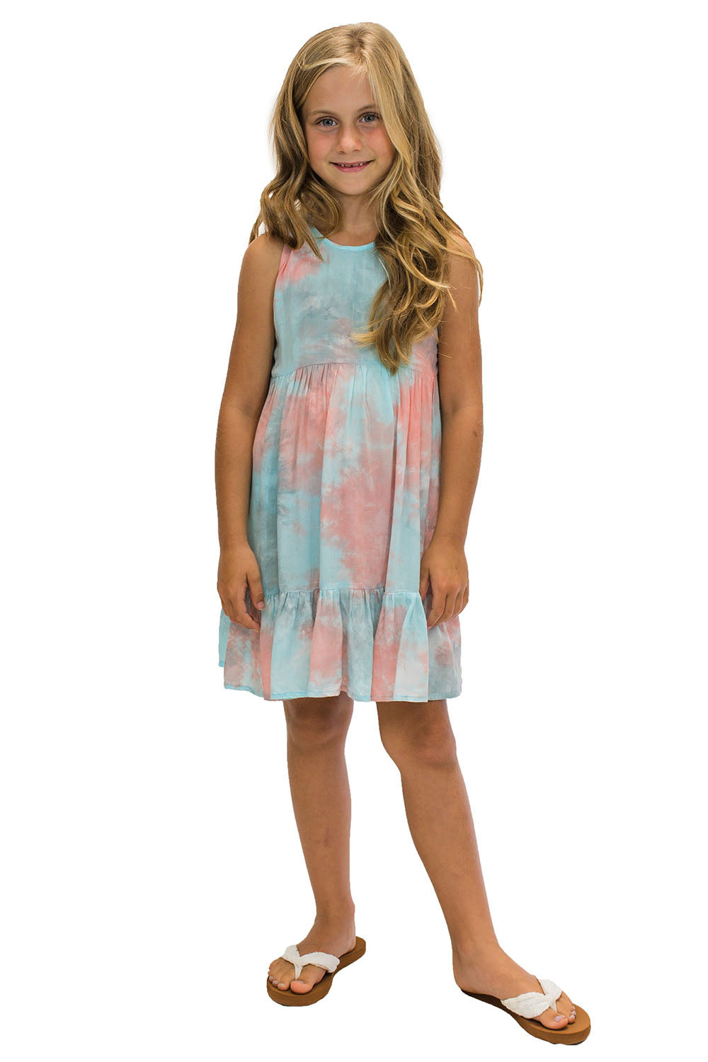 Girls Ala Dress in Smoke Coral