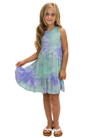 Girls Ala Dress in Smoke Purple