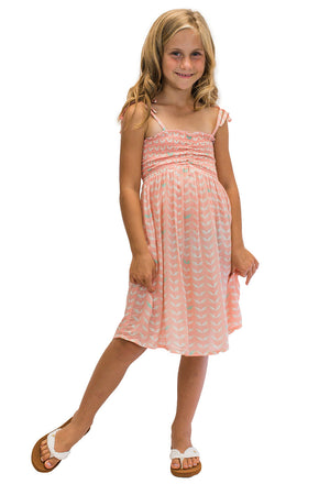 Girls Kula Dress in Angel Wing Coral