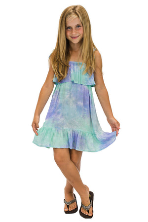 Girls Moana Dress in Smoke Purple
