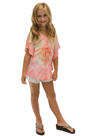 Girls Ocean Tunic in Abstract Coral