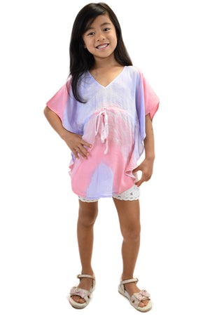 Girls Ocean Tunic in Wave Purple