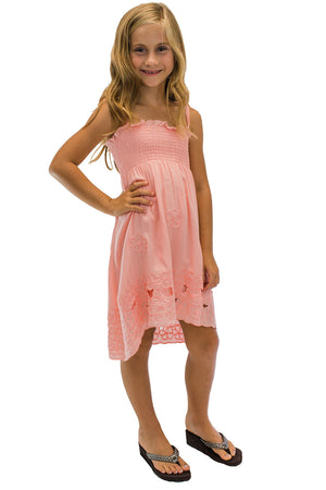 Girls Waikiki Moon Dress Coral