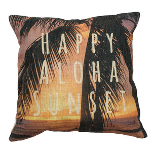 Happy Aloha Sunset Pillow Case