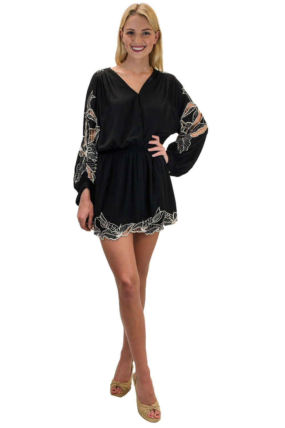 Kilia Short Dress Black